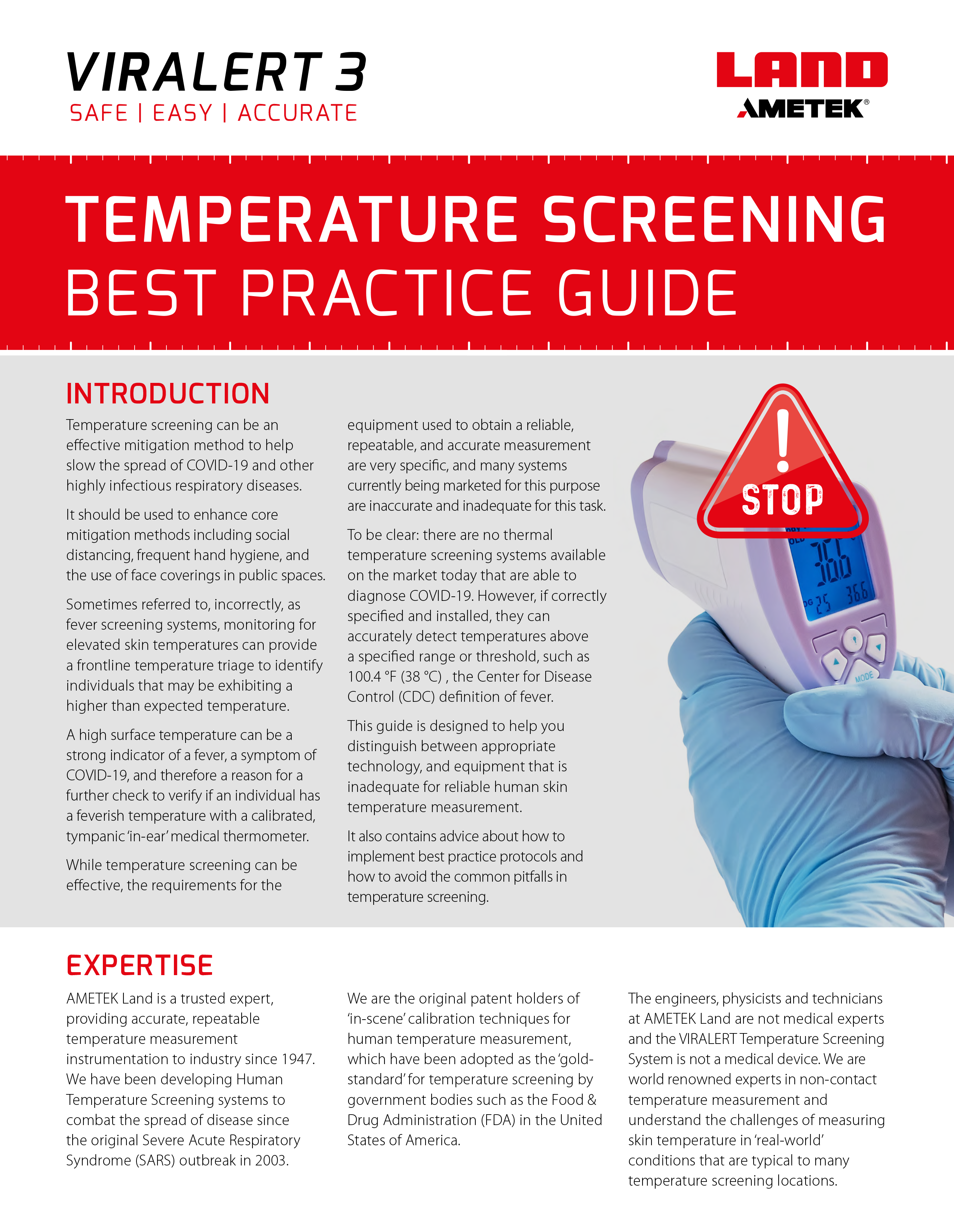 VIRALERT Temperature Screening Best Practice Guide